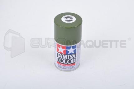 Tamiya - Vert Olive Clair Mat TS-28 (bombe 100ml)