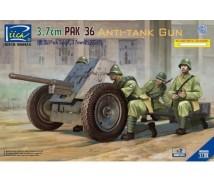 Riich models - Pak 36 3.7cm & metal gun barrel (x2)