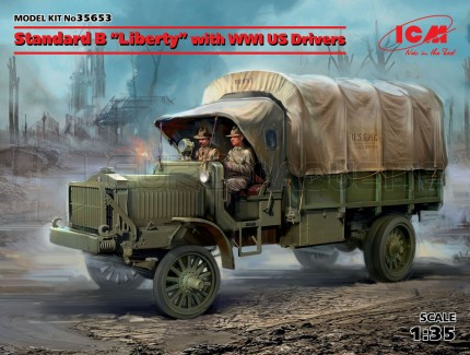 Icm - Liberty truck WWI & drivers