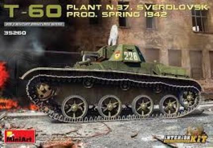 Miniart - T-60 N37 spring 1942 & interior kit