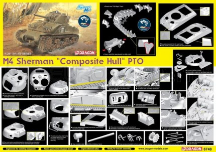 Dragon - M4 Sherman Composite Hull PTO