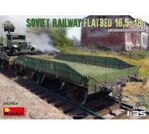 Miniart - Soviet railway flatbed 16,5-18t