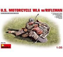 Miniart - Harley Davidson & rifleman WWII
