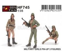 Hobby fan - Military girls pin-up (x3)