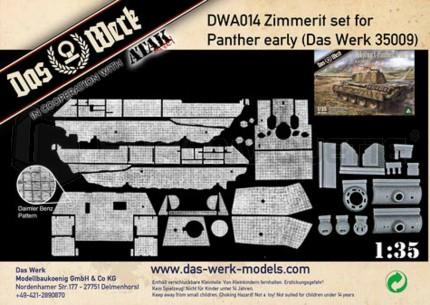 Das werck - Zimmerit Panther early (Das werck/Takom)