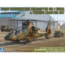 Aoshima - OH-1 Ninja & tractor