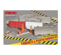 Meng - Concrete & plastic barrier set