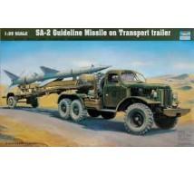 Trumpeter - SA-2 missile & remorque