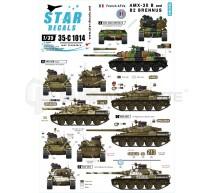 Star decals - AMX 30B & B2 Brenus
