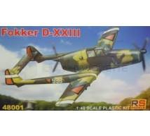 Rs models - Fokker D-XXIII