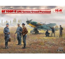 Icm - Bf-109 F-4 & Ground crew