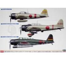 Hasegawa - Combo 3 kits Zero/Val/Kate Pearl Harbor