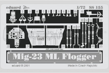 Eduard - Mig 23 ML Flogger (italeri/bilek)