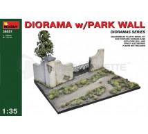 Miniart - Diorama & park wall